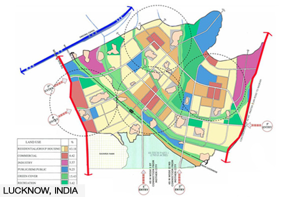 Lucknow town centre concept plan review urbanismplus for Concept design and planning